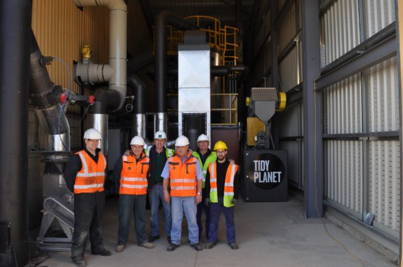 Tidy Planet's organic waste to energy plant at Gatwick