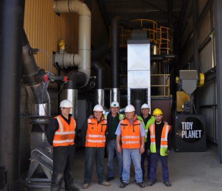 Biomass boiler at Gatwick Airport