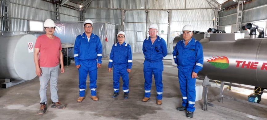 Demtec Solutions team - Kazakhstan oilfield