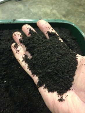 Compost resource from dried food waste