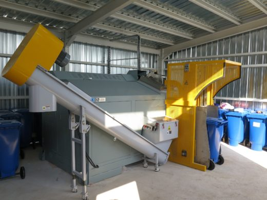 Gobi Food Waste Dryer at an oil and gas site