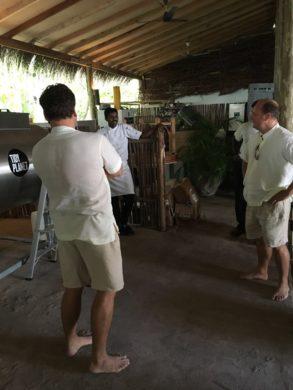 Rockat Composter training at Gili Lankanfushi